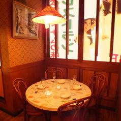 4~5名様用の半個室。人目を気にせずゆっくりお食事して頂けます。