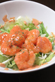 料理メニュー写真エビのカレーマヨ/エビの明太子ソース/エビのレモンクリーム/エビのオーロラソース