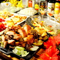 料理メニュー写真コースその2★若鶏のガーリック山賊焼コース ※今だけ全7品