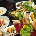【充実したコースプラン】名物の熟成肉や海鮮料理など多彩なお料理をお楽しみ頂けるコースプランをご用意しております。接待を始め記念日のお祝いやディナーデートなど各種シーンに合わせてご利用頂けます。