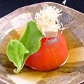 料理メニュー写真まるごとトマトとクリームチーズのおひたし