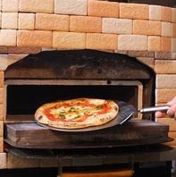 もちもちのナポリピッツァ♪550℃の石窯で一気に焼成!