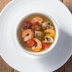 料理メニュー写真海老とマッシュルームのガーリックオイル焼き