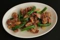 料理メニュー写真若鶏ハラミとピーマンのガーリックソテー