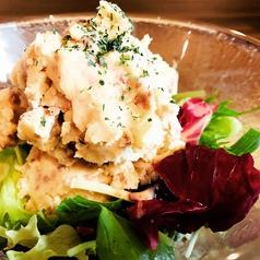 ひき肉といぶりがっこのポテトサラダ
