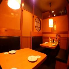 8名様までOKのテーブル個室。少人数宴会に最適!