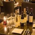【熟成肉とワインを楽しむ】熟成肉に合うワインを10種類にご用意しております。また地下フロア限定の飲み放題付きコースでは、ワインを含めた様々なドリンクメニューを気兼ねなくお楽しみいただけます。