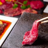 肉バルで楽しむ溶岩プレートの焼肉