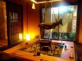 京の風情を楽しめる囲炉裏部屋。