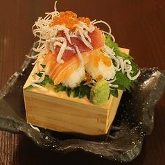 『極み寿司』海鮮こぼれ寿司 (しゃり二貫付)