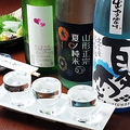 料理メニュー写真季節によって切り替わる日本酒セット(3種)