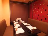 1Fの完全個室はソファーテーブルで快適☆人数に応じて仕切りを変えられるので、4名/6名/10名…など最大25名様までOK!