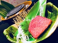 料理メニュー写真サーロイン炭火焼き 特選黒毛和牛(A5ランク)