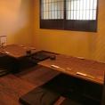 半個室のような空間でごゆらりとお食事とお酒をお楽しみください。