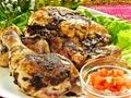 料理メニュー写真若鶏の半身ビックジャークチキンステーキ