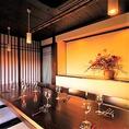 和モダンな装飾がおしゃれな空間を演出している10名様個室がございます。大人女子会や宴会・忘年会におすすめ。
