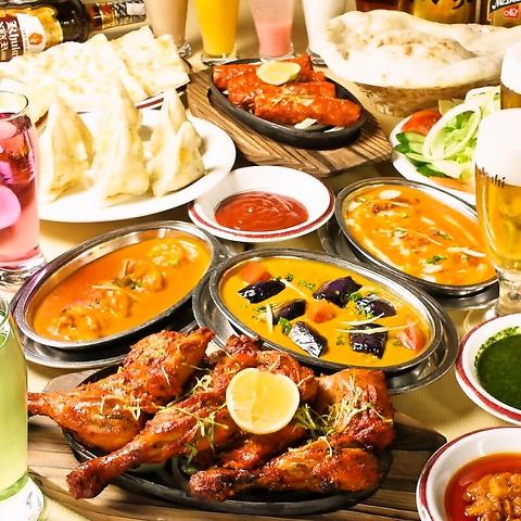 42種類の料理とドリンクの食べ放題&飲み放題が4180円(税込)★お気軽ランチは790円~♪