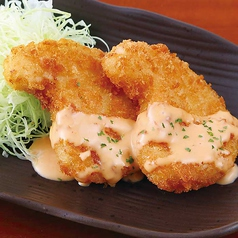 料理メニュー写真カニクリームコロッケ/鶏唐揚げ