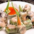 料理メニュー写真えびと野菜の生春巻 チリソース