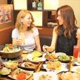大人気女子会コースはたっぷりゆったり3時間食べ飲み放題が3300円~!コスパ最強のコースです♪少人数様~大人数様まで対応可能なお席を豊富にご用意致しております♪美味しい料理とお酒でガールズトークもさらに盛り上がること間違いなし◎東梅田で食べ飲み放題の出来る居酒屋ならのりをへ♪