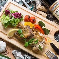 料理メニュー写真岩見沢産キジ肉 モモ肉のジェノバ焼き