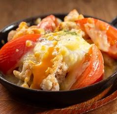 鶏ももトマトチーズ焼き