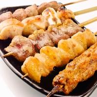 秋田名物 比内地鶏・鳥取県産 大山鶏が味わえる串★