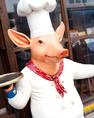 私が目印です!(名前はありません。誰か名前を付けてください☆)歓送迎会・飲み会もまる豚で!