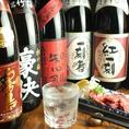 人気の焼酎・日本酒を用意!飲み放題でも楽しめます!