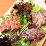 ■肉5種盛り(ハンバーグ・牛カツ・グリル・ステーキ)