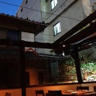 開閉式屋根のテラス席