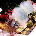 料理メニュー写真泳ぎ活イカの姿造り