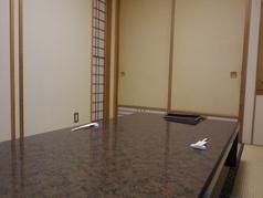 個室のお席です。2名様~ご利用可能なので、接待などにもご利用いただけます。