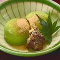 料理メニュー写真宇治抹茶アイスの黒蜜黄粉