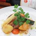 料理メニュー写真しずおか麦豚のグリルオニオンソース S/M