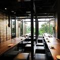 昼宴会にもおすすめ!赤レンガテラス3階の贅沢和食を楽しめる掘り炬燵個室。