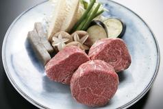 料理メニュー写真神戸牛内ももステーキ 160g(A5)