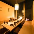 人気の窓付き個室♪個室は2名様~完備致しております。忘年会、接待、デートなど様々な用途に合わせた個室をご準備致しております。