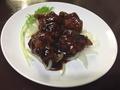 料理メニュー写真黒酢鶏肉