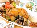 料理メニュー写真錦爽鶏(きんそうどり)の骨付きモモ肉のコンフィー