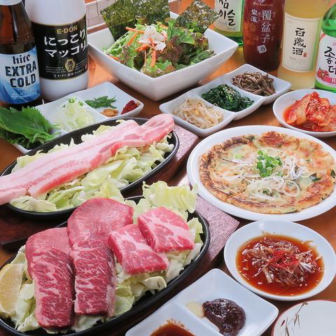 韓国料理を気軽に楽しめるリーズナブルな居酒屋。定番から珍味まで、1品150円~。