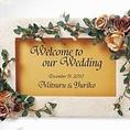 結婚式の二次会などの御利用の方にはウェルカムボードご用意します☆その他、案内状なども無料で作成致します。