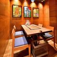 1日2組限定のテーブル完全個室。予約3名~。串カツ、ホルモンなどの単品料理もおすすめ!