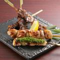 料理メニュー写真串焼き5種盛り