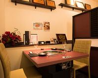 接待やデートに…プライベート感満載の半個室。