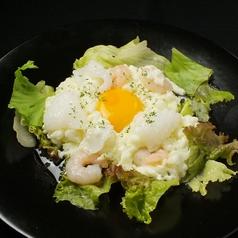 料理メニュー写真海老とイカと畠中さん家の地玉子の炒め~北京風~