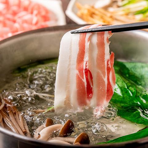 『西郷どんコース』六白黒豚しゃぶしゃぶがメインのお得なコース!お料理のみ3500円