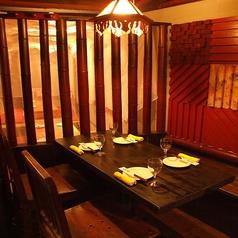 アジアン雰囲気◎の4名テーブル席