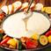 女性を中心に今大人気のチーズフォンデュ♪BBQチーズフォンデュとUFOチーズフォンデュをハーフ&ハーフでご用意!2種類を是非食べ比べ下さいませ♪