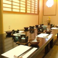 【2F】2Fは5~30名様までご利用いただける個室空間。本格懐石料理をお手軽に徳島駅前で!